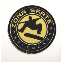 Embroidery and textile patch ZONA SKATE 7,5cm