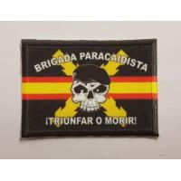 Textiles and embroidered patch BRIGADA PARACAIDISTA 7cm X 5CM