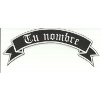 YOUR NAME UP GOTHIC embroidered patch 29cm x 11cm