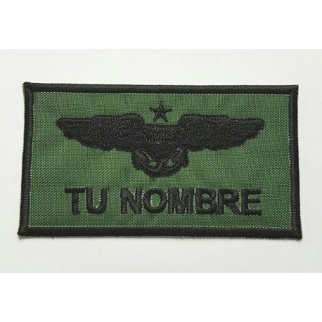 Patch embroidery MILITARY INSIGNIA YOUR NAME 9cm x 5cm NAMETAPES