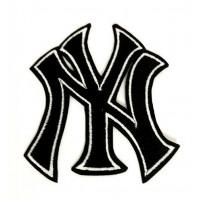 Parche bordado NEW YORK- NY NEGRO-BLANCO 7,5cm x 8,5cm