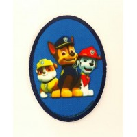 Embroidery and textile patch PATROL CANINE oval 6cm x 8,5cm