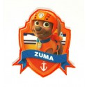 Embroidery and textile patch PATROL CANINE ZUMA 7,5cm x 8,2cm