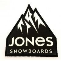 Parche bordado y textil JONES SNOWBOARDS 7cm x 8 cm