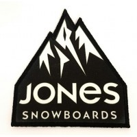 embroidery and textile patch JONES SNOWBOARDS 7cm x 8 cm