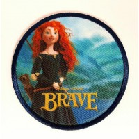 Embroidery and textile patch BRAVE 7,5cm