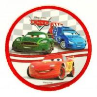 Parche bordado y textil TRES CARS 7,5cm