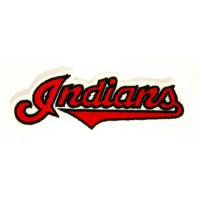 INDIANS embroidered patch 9cm x 3.5cm