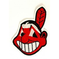 INDIANS LOGO embroidered patch 6.5 cm x 9.5