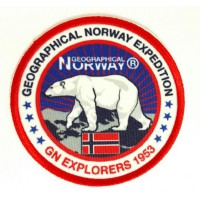 Embroidery and textile patch NORWAY 7.5cm