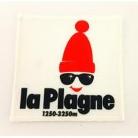 embroidery and textile patch LA PLAGNE 7cm x 7cm