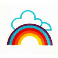 Embroidered patch RAINBOW 7cm x 5.5cm
