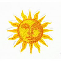 Embroidered patch SUN 7.5cm