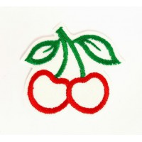 Embroidered patch CHERRIES 6cm x 5.5cm