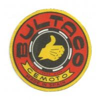 Textile patch BULTACO ROJO 17cm x 17cm