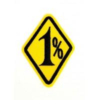 Parche bordado 1% 4,5cm x 6,5cm