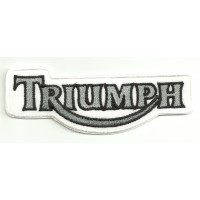 Parche bordado TRIUMPH BLANCO Y GRIS 26cm x 10cm