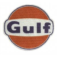 Textile patch GULF 8,5cm x 7,5cm
