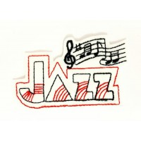 Embroidery Patch JAZZ 7,5cm x 4,5cm