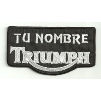 Embroidery Patch TRIUMPH CON TU NOMBRE 15cm X 7cm