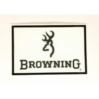 Textile patch WHITE BROWNING 9cm X 6cm