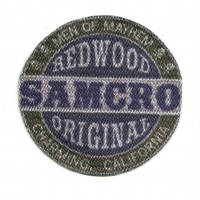 Textile patch REDWOOD ORIGINAL SAMCRO 7,5cm x 7,5cm