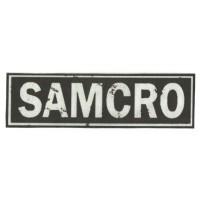Textile patch SAMCRO 25cm x 7cm