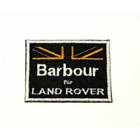 Parche bordado BARBOUR LAND ROVER 9cm x 7cm