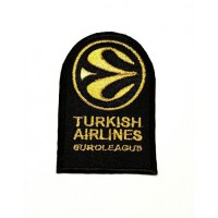 Parche bordado TURKISH AIRLINES EUROLEAGE DORADO 5cm x 7,5cm