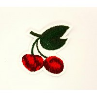 CHERRIES RIPE embroidered patch 4.5cm x 5cm