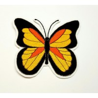 BUTTERFLY embroidered patch 8cm x 7cm