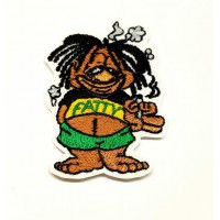JAMAICAN embroidered patch 4.5cm x 6.5cm