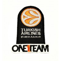 Parche bordado PACK TURKISH AIRLINES Y ONE1TEAM 9cm x 6,5cm