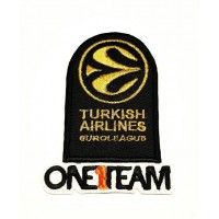 Parche bordado PACK TURKISH AIRLINES DORADO Y ONE1TEAM 9cm x 6,5cm