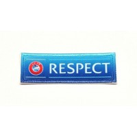 Textile patch and embroidery UEFA RESPECT 6cm x 2cm