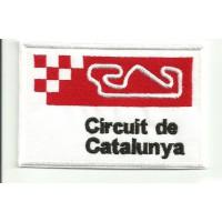 Parche bordado CIRCUIT DE CATALUNYA 9cm x 6cm