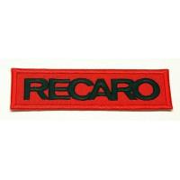 Parche bordado RECARO ROJO / NEGRO 4,5cm x 1,3cm