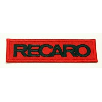 Patch embroidery RECARO RED / BLACK 4,5cm x 1,3cm