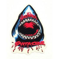 textile patch SHARK SANTA CRUZ 6,5cm x 10cm