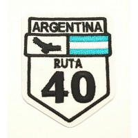 Parche bordado RUTA 40 ARGENTINA 5,5cm x 7cm