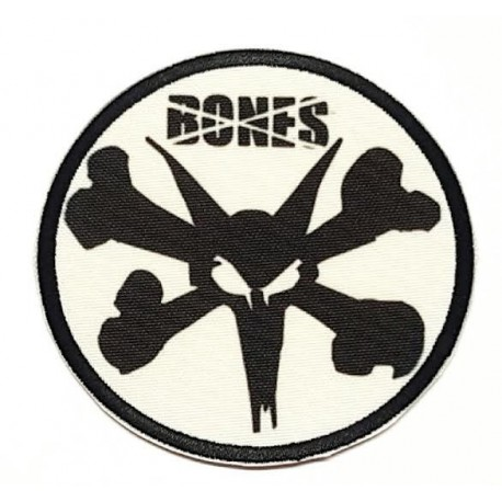 embroidered patch SKULL BONES 7.5cm