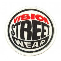 textile and embroidery patch VISION STREET WEAR 7.5cm