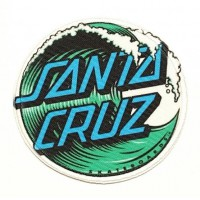 WAVE SANTA CRUZ textile embroidery patch 20cm