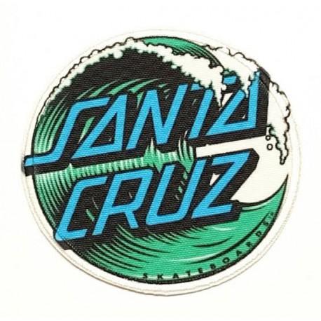 WAVE SANTA CRUZ textile embroidery patch 7.5cm