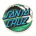 WAVE SANTA CRUZ textile embroidery patch 20cm
