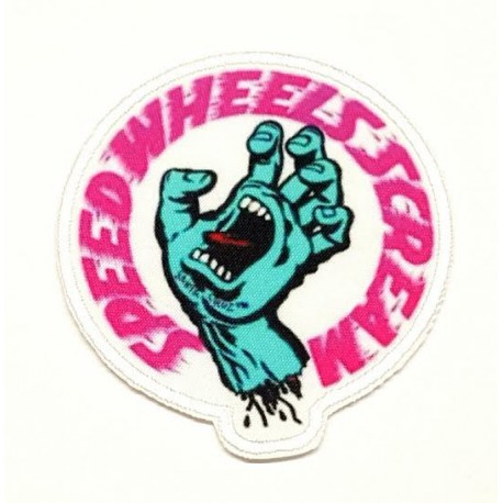 SANTA CRUZ SPEED WHEELS SCREAM textile embroidery patch 7.5cm