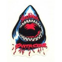 textile patch SHARK SANTA CRUZ 13cm x 20cm