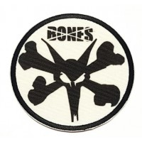 embroidered and textil patch SKULL BONES 7.5cm