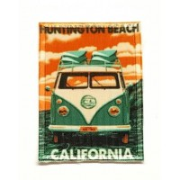 Parche textil y bordado CALIFORNIA BEACH 5cm x 7cm