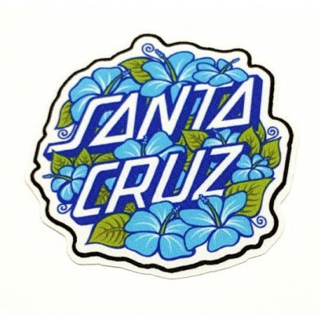 FLOWERS SANTA CRUZ textile embroidery patch 8,5cm